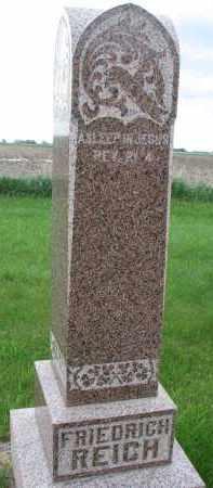 REICH, FRIEDRICH - Hutchinson County, South Dakota   FRIEDRICH REICH - South Dakota Gravestone Photos