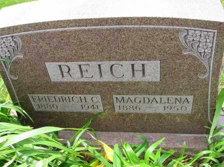 REICH, MAGDALENA - Hutchinson County, South Dakota   MAGDALENA REICH - South Dakota Gravestone Photos
