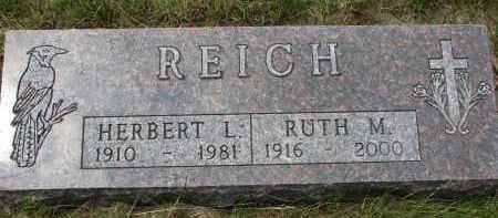 REICH, RUTH M. - Hutchinson County, South Dakota | RUTH M. REICH - South Dakota Gravestone Photos