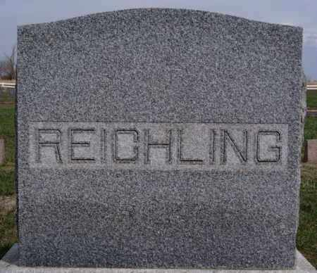 REICHLING, FAMILY MARKER - Hutchinson County, South Dakota | FAMILY MARKER REICHLING - South Dakota Gravestone Photos