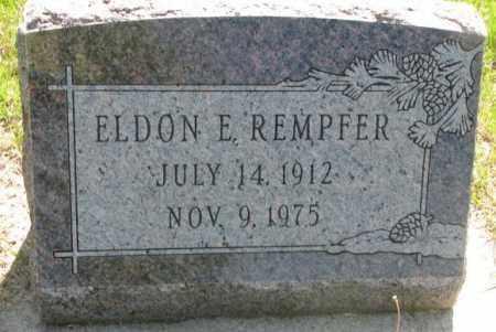 REMPFER, ELDON E. - Hutchinson County, South Dakota | ELDON E. REMPFER - South Dakota Gravestone Photos