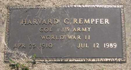 REMPFER, HARVARD C. (WW II) - Hutchinson County, South Dakota | HARVARD C. (WW II) REMPFER - South Dakota Gravestone Photos