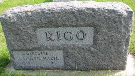 RIGO, CAROLYN MARIE - Hutchinson County, South Dakota | CAROLYN MARIE RIGO - South Dakota Gravestone Photos