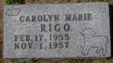 RIGO, CAROLYN MARIE - Hutchinson County, South Dakota | CAROLYN MARIE RIGO - South Dakota Gravestone Photos
