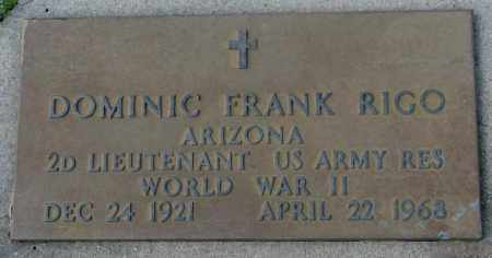 RIGO, DOMINIC FRANK - Hutchinson County, South Dakota | DOMINIC FRANK RIGO - South Dakota Gravestone Photos