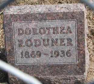 RODUNER, DOROTHEA - Hutchinson County, South Dakota | DOROTHEA RODUNER - South Dakota Gravestone Photos