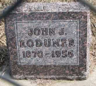 RODUNER, JOHN J. - Hutchinson County, South Dakota | JOHN J. RODUNER - South Dakota Gravestone Photos