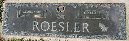 ROESLER, LEONHARD - Hutchinson County, South Dakota | LEONHARD ROESLER - South Dakota Gravestone Photos
