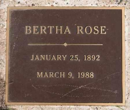 ROSE, BERTHA - Hutchinson County, South Dakota   BERTHA ROSE - South Dakota Gravestone Photos