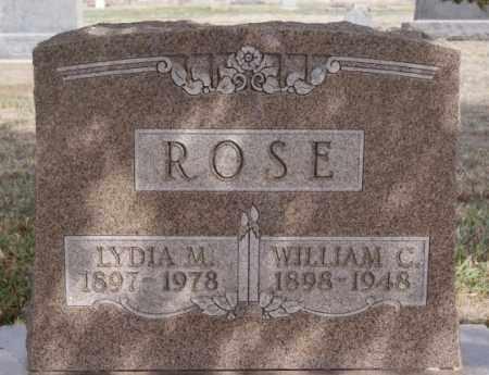 ROSE, WILLIAM C - Hutchinson County, South Dakota | WILLIAM C ROSE - South Dakota Gravestone Photos