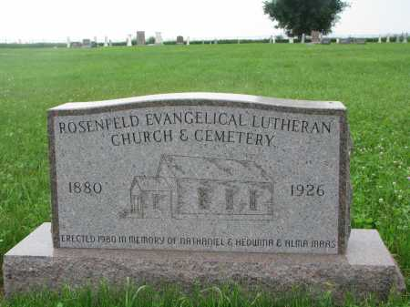 *ROSENFELD, CEMETERY - Hutchinson County, South Dakota | CEMETERY *ROSENFELD - South Dakota Gravestone Photos