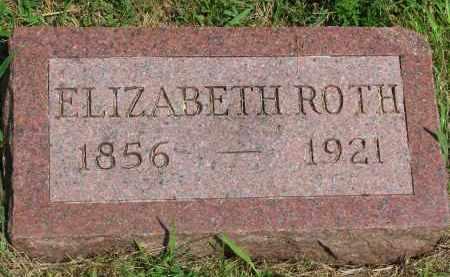 ROTH, ELIZABETH - Hutchinson County, South Dakota | ELIZABETH ROTH - South Dakota Gravestone Photos