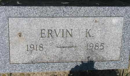 ROTH, ERVIN K. - Hutchinson County, South Dakota | ERVIN K. ROTH - South Dakota Gravestone Photos