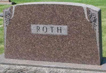 ROTH, FAMILY PLOT MARKER - Hutchinson County, South Dakota   FAMILY PLOT MARKER ROTH - South Dakota Gravestone Photos
