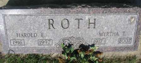 ROTH, MYRTHA T. - Hutchinson County, South Dakota   MYRTHA T. ROTH - South Dakota Gravestone Photos