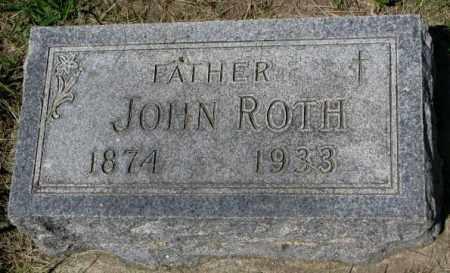 ROTH, JOHN - Hutchinson County, South Dakota | JOHN ROTH - South Dakota Gravestone Photos