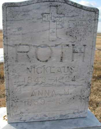 ROTH, NICKLAUS - Hutchinson County, South Dakota   NICKLAUS ROTH - South Dakota Gravestone Photos