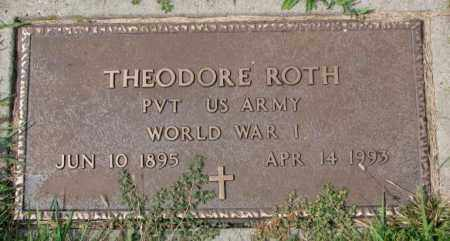 ROTH, THEODORE (WW I) - Hutchinson County, South Dakota   THEODORE (WW I) ROTH - South Dakota Gravestone Photos
