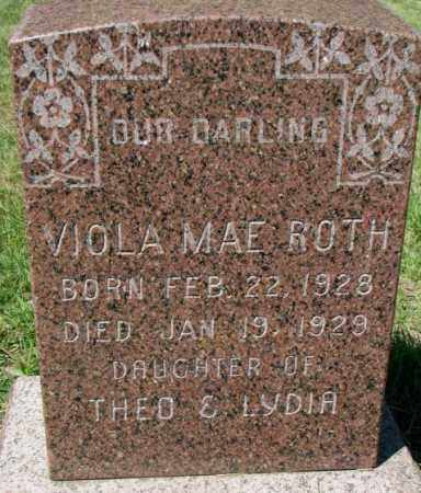ROTH, VIOLA MAE - Hutchinson County, South Dakota   VIOLA MAE ROTH - South Dakota Gravestone Photos