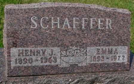 SCHAEFFER, EMMA - Hutchinson County, South Dakota | EMMA SCHAEFFER - South Dakota Gravestone Photos