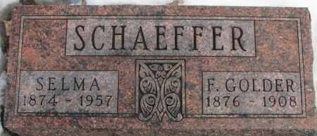 SCHAEFFER, F. GOLDER - Hutchinson County, South Dakota   F. GOLDER SCHAEFFER - South Dakota Gravestone Photos