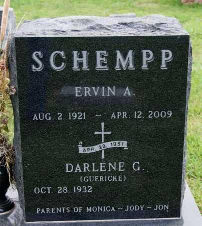 SCHEMPP, ERVIN A - Hutchinson County, South Dakota | ERVIN A SCHEMPP - South Dakota Gravestone Photos