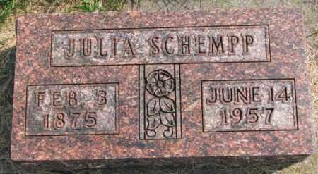SCHEMPP, JULIA - Hutchinson County, South Dakota | JULIA SCHEMPP - South Dakota Gravestone Photos