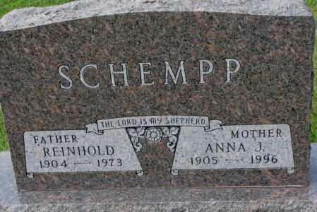 SCHEMPP, ANNA J. - Hutchinson County, South Dakota | ANNA J. SCHEMPP - South Dakota Gravestone Photos