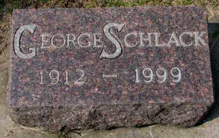 SCHLACK, GEORGE - Hutchinson County, South Dakota   GEORGE SCHLACK - South Dakota Gravestone Photos