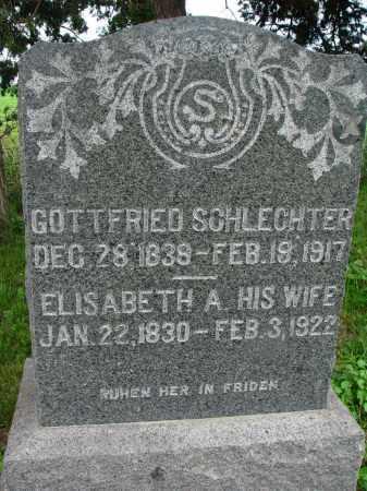 SCHLECHTER, ELISABETH A. - Hutchinson County, South Dakota   ELISABETH A. SCHLECHTER - South Dakota Gravestone Photos