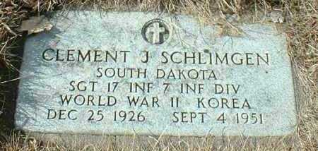 SCHLIMGEN, CLEMENT - Hutchinson County, South Dakota | CLEMENT SCHLIMGEN - South Dakota Gravestone Photos