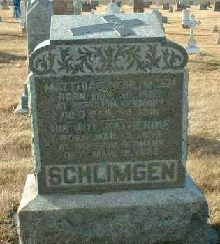 SCHLIMGEN, KATHERINE - Hutchinson County, South Dakota | KATHERINE SCHLIMGEN - South Dakota Gravestone Photos