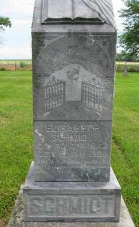 SCHMIDT, ELISABETH - Hutchinson County, South Dakota | ELISABETH SCHMIDT - South Dakota Gravestone Photos