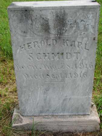 SCHMIDT, HEROLD KARL - Hutchinson County, South Dakota | HEROLD KARL SCHMIDT - South Dakota Gravestone Photos