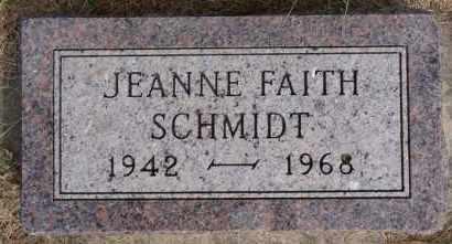 SCHMIDT, JEANNE FAITH - Hutchinson County, South Dakota | JEANNE FAITH SCHMIDT - South Dakota Gravestone Photos
