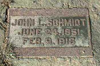 SCHMIDT, JOHN - Hutchinson County, South Dakota | JOHN SCHMIDT - South Dakota Gravestone Photos