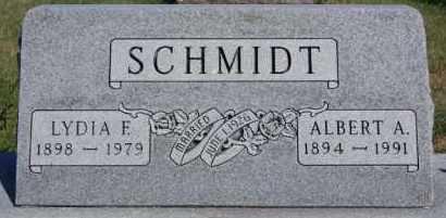 SCHMIDT, ALBERT A - Hutchinson County, South Dakota   ALBERT A SCHMIDT - South Dakota Gravestone Photos