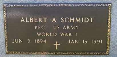 SCHMIDT, ALBERT A (WWII) - Hutchinson County, South Dakota | ALBERT A (WWII) SCHMIDT - South Dakota Gravestone Photos