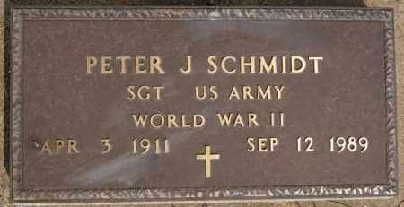 SCHMIDT, PETER J (WWII) - Hutchinson County, South Dakota | PETER J (WWII) SCHMIDT - South Dakota Gravestone Photos