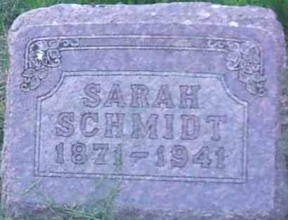 HOFFELMANN SCHMIDT, SARAH - Hutchinson County, South Dakota   SARAH HOFFELMANN SCHMIDT - South Dakota Gravestone Photos