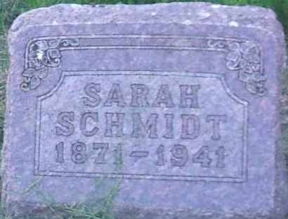 SCHMIDT, SARAH - Hutchinson County, South Dakota | SARAH SCHMIDT - South Dakota Gravestone Photos