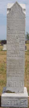 METTLER, CHRISTINA - Hutchinson County, South Dakota | CHRISTINA METTLER - South Dakota Gravestone Photos