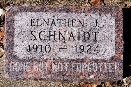 SCHNAIDT, ELNATHEN J - Hutchinson County, South Dakota | ELNATHEN J SCHNAIDT - South Dakota Gravestone Photos