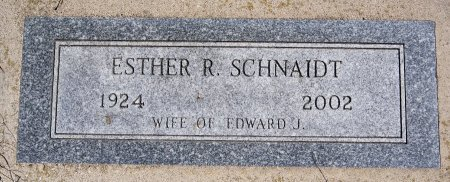 SCHNAIDT, ESTHER R - Hutchinson County, South Dakota | ESTHER R SCHNAIDT - South Dakota Gravestone Photos