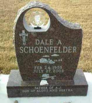 SCHOENFELDER, DALE - Hutchinson County, South Dakota | DALE SCHOENFELDER - South Dakota Gravestone Photos