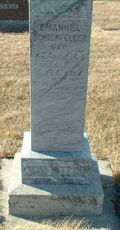 SCHOENFELDER, EMANUEL - Hutchinson County, South Dakota | EMANUEL SCHOENFELDER - South Dakota Gravestone Photos