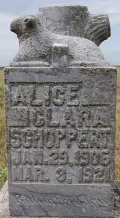 SCHOPPERT, ALICE CLARA - Hutchinson County, South Dakota   ALICE CLARA SCHOPPERT - South Dakota Gravestone Photos