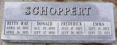 SCHOPPERT, DONALD - Hutchinson County, South Dakota | DONALD SCHOPPERT - South Dakota Gravestone Photos