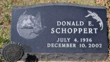 SCHOPPERT, DONALD E - Hutchinson County, South Dakota   DONALD E SCHOPPERT - South Dakota Gravestone Photos
