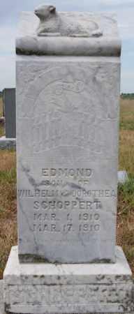 SCHOPPERT, EDMOND - Hutchinson County, South Dakota   EDMOND SCHOPPERT - South Dakota Gravestone Photos